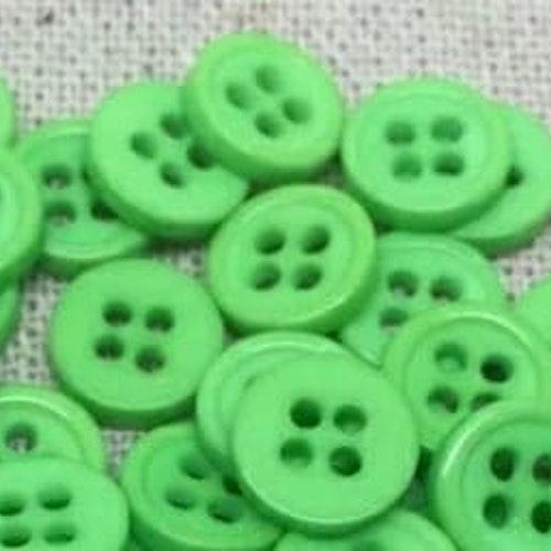 Knapp att sy fast 5-PACK , 9mm mini grön