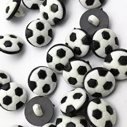 Knapp att sy fast 5-PACK , 13mm fotboll