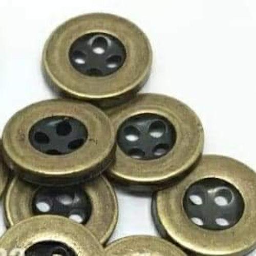 Knapp att sy fast 5-PACK , 13mm brons