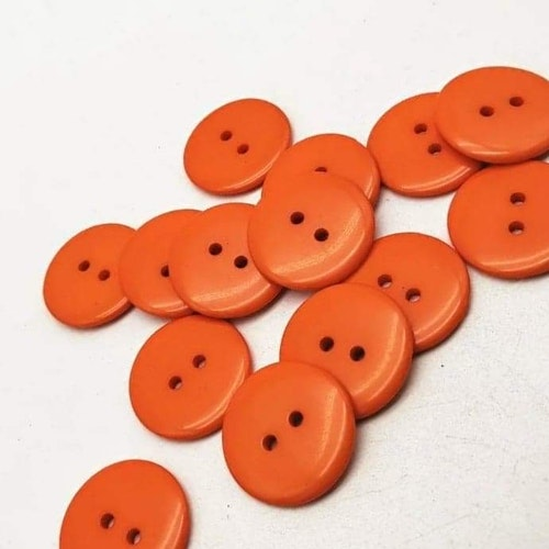 Knapp att sy fast 5-PACK , 11mm orange slät