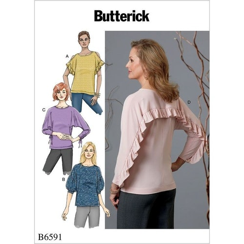 Butterick 6591 Y OBS storlek xs-m
