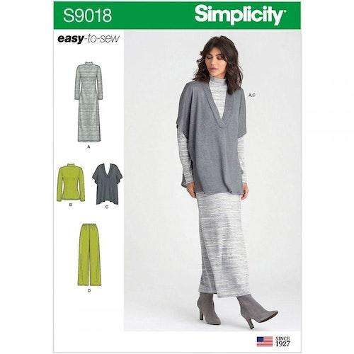 Simplicity 9018 stl xxs-xxL