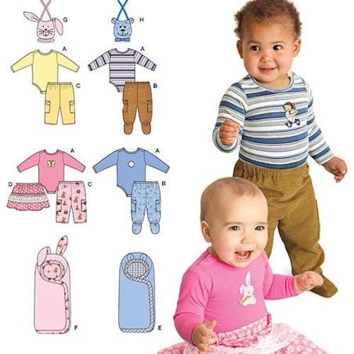 Simplicity 2291 Baby garderob  xxs-L