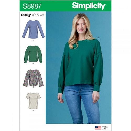 Simplicity 8987 H5 obs storlek 34-42