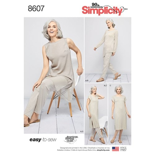 Simplicity 8607 xxs-xxL