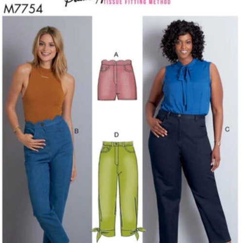 McCalls Jeans 7754 Dam stl 8-16 och 18w-24w