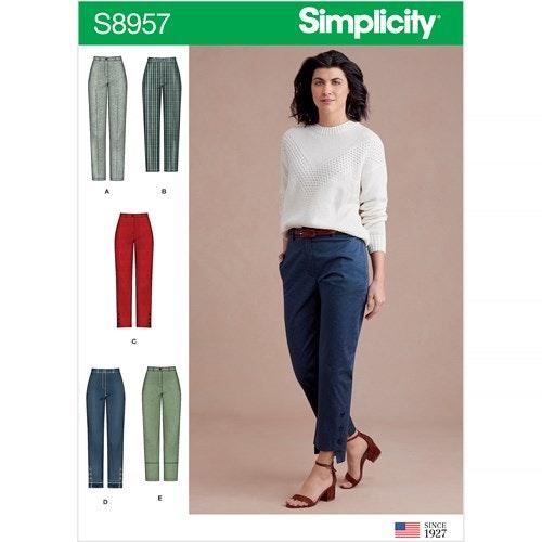 Simplicity 8957 Dam byxa OBS storlek R5 stl 40-48