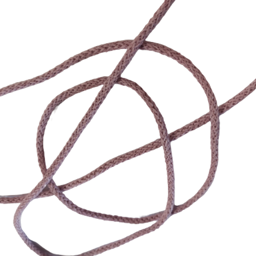 Bomullssnodd antik lila, säljs per dm. snöre