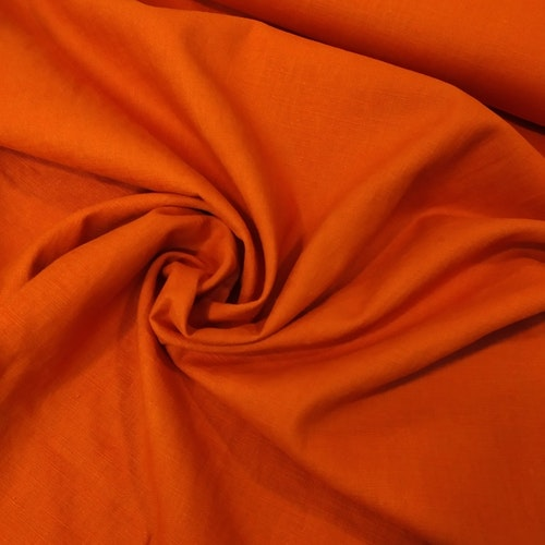 LINNE Mjukt, tvättat mörk orange
