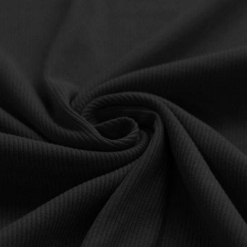 Olle - Ribbad trikå - Mörkblå 135 cm bredd