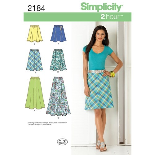 Simplicity 2184 Dam kjol OBS storlek H5 stl 34-42