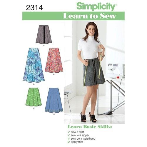 Simplicity 2314 Dam kjol A 6-18 34-46