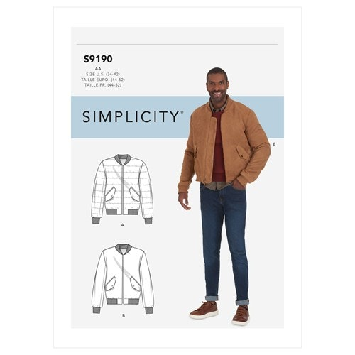 Simplicity 9190 Herr AA Jacka 44-52