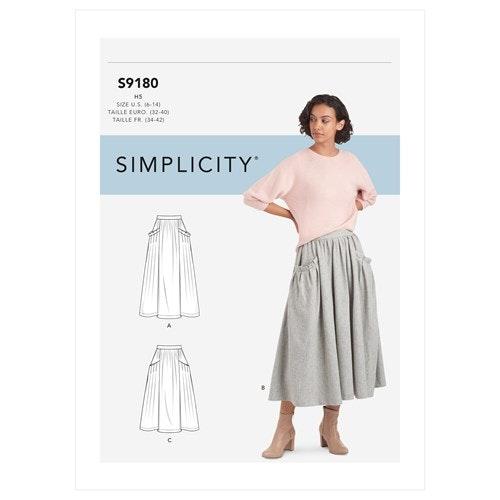 Simplicity 9180 Dam kjol storlek 32-40