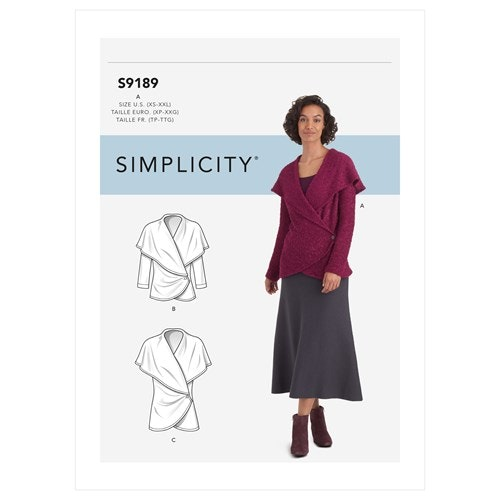 Simplicity 9189 A Dam Storlek 32-52 överdel