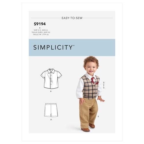 Simplicity 9194 A Barn Storlek 1-18 mån Flera plagg