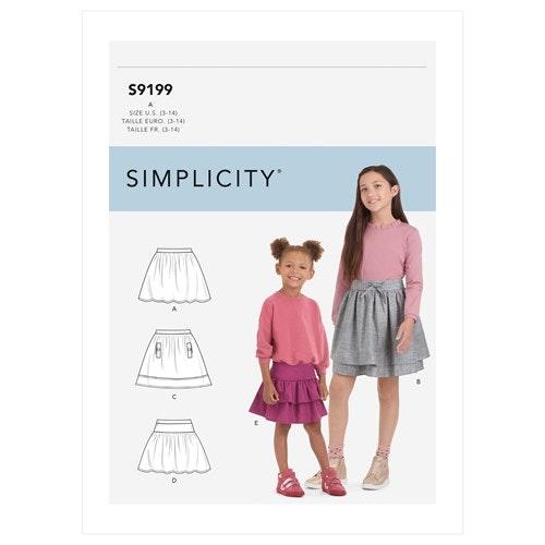 Simplicity 9199 A Barn Storlek 3-14 Kjol