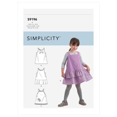 Simplicity 9196 A Barn Storlek 3-8  Klänning