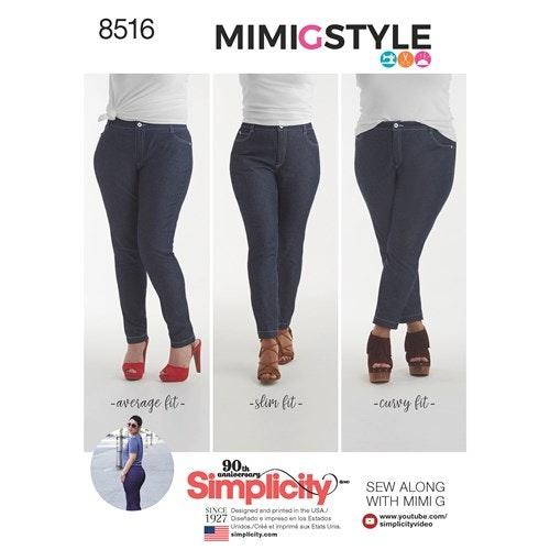 Simplicity 8516 Dam jeans storlek 40-48 R5