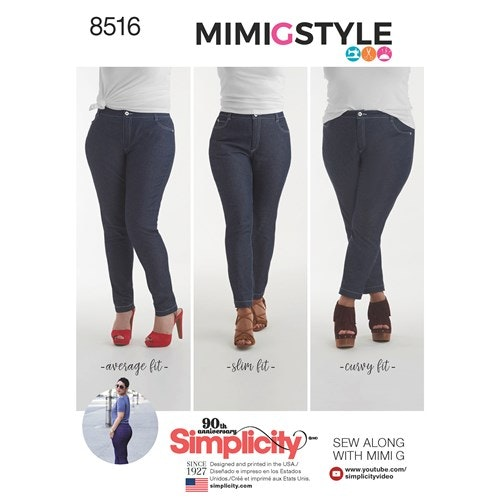 Simplicity 8516 Dam jeans storlek 32-40 H5