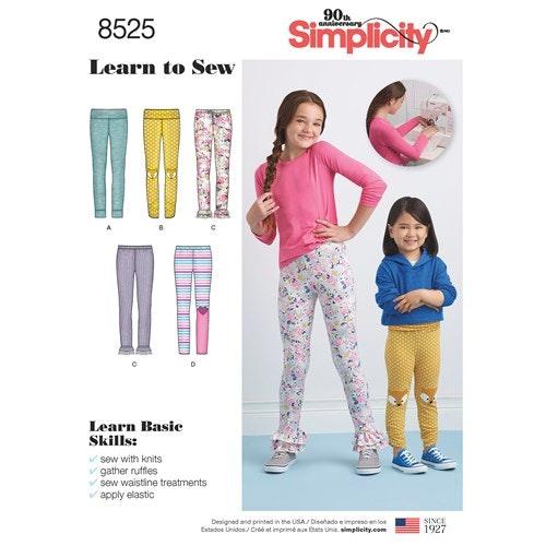 Simplicity 8525 K5 Barn storlek 7-14 tights