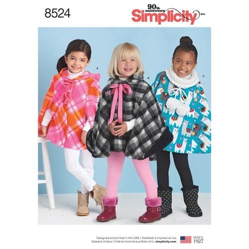 Simplicity 8524 A Barn Storlek 3-8 Cape