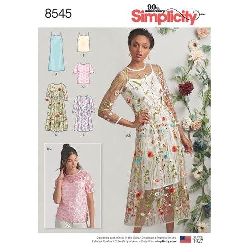 Simplicity 8545 P5 Dam Storlek 40-48 Flera plagg