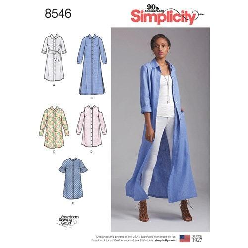 Simplicity 8546 H5 Dam Klänning Flera plagg Storlek 34-42