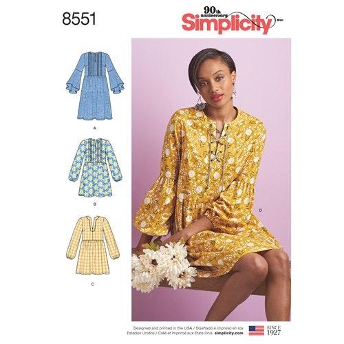 Simplicity 8551 D5 Dam Klänning  Storlek 32-40