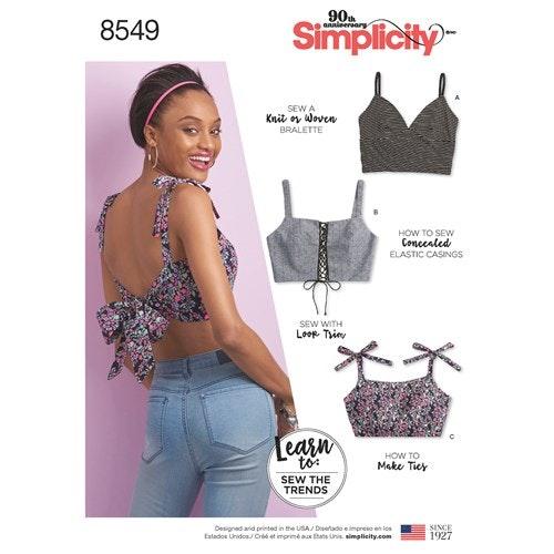 Simplicity 8549 A Dam Storlek 30-52 Överdel