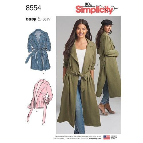 Simplicity 8554 H5 Dam Storlek 34-42 Överdel