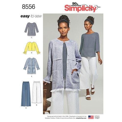Simplicity 8556 H5 Dam Flera plagg  Storlek 34-42