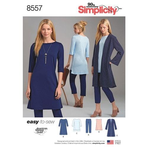 Simplicity 8557 A Dam Storlek 30-52 Flera plagg