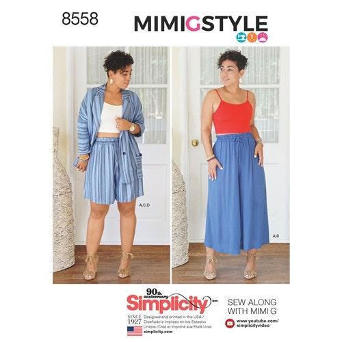 Simplicity 8558 H5 Dam Storlek 34-42 Flera plagg