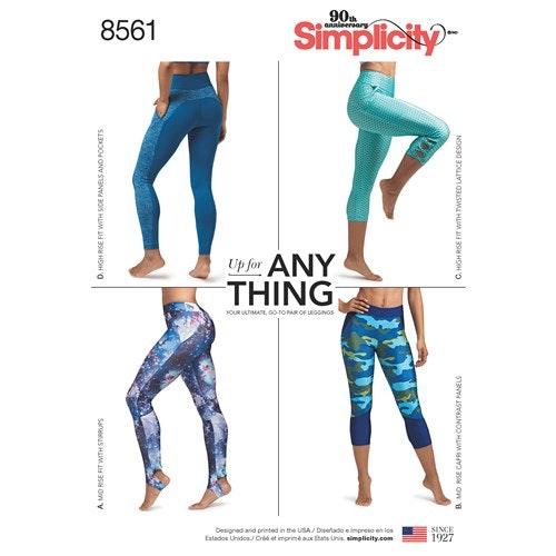 Simplicity 8561 AA Dam Storlek XS-XL Sport tights