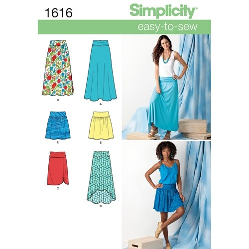 Simplicity 1616 R5 Dam kjol storlek 42-50