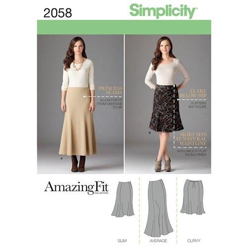 Simplicity 2058 AA Dam kjol storlek 38-46