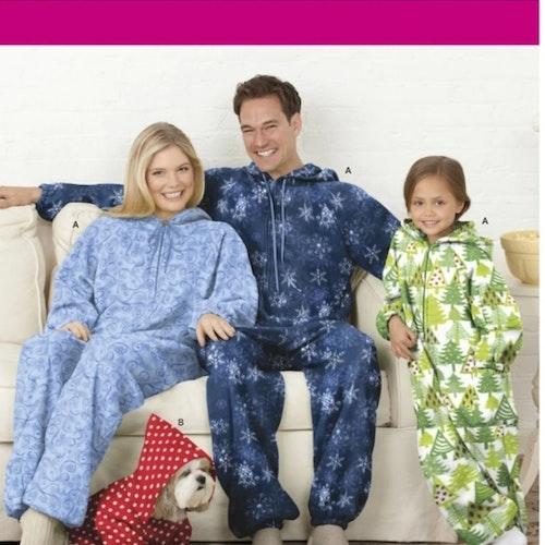 Simplicity 1731 A Pyjamas Familj storlek XS-XL
