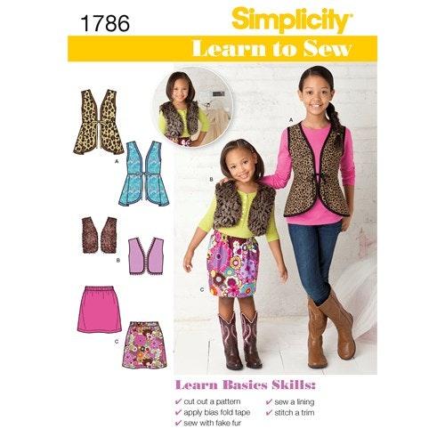 Simplicity 1786 K5 Barn Flera plagg storlek  7-14