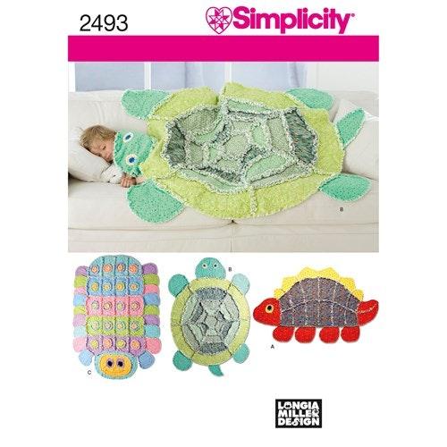 Simplicity 2493 Barn Filt Matta en storlek