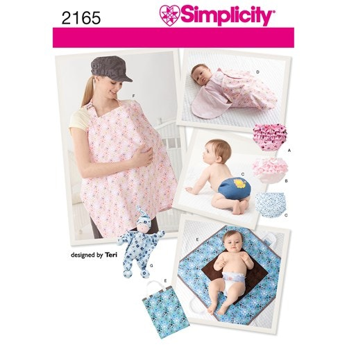 Simplicity 2165 A Barn Babyaccessoarer , blöjskal ,