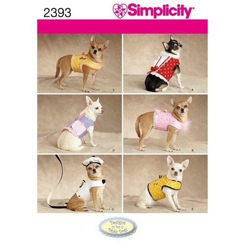 Simplicity 2393 A Djur Hundkläder storlek XXS-M