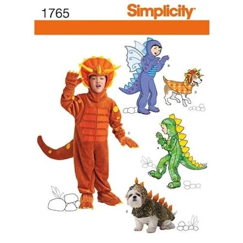 Simplicity 1765 A Barn Utklädningskläder Storlek 3-8