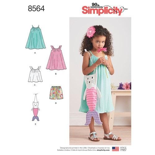 Simplicity 8564 A Barn Klänning storlek 3-8