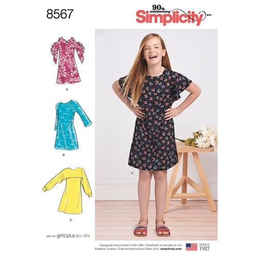 Simplicity 8567 AA Barn Klänning storlek 8-16