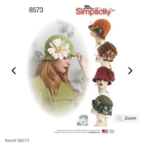 Simplicity 8573 A Dam Hatt Storlek S-L