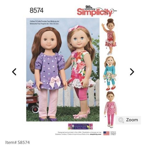 Simplicity 8574 OS Dockkläder