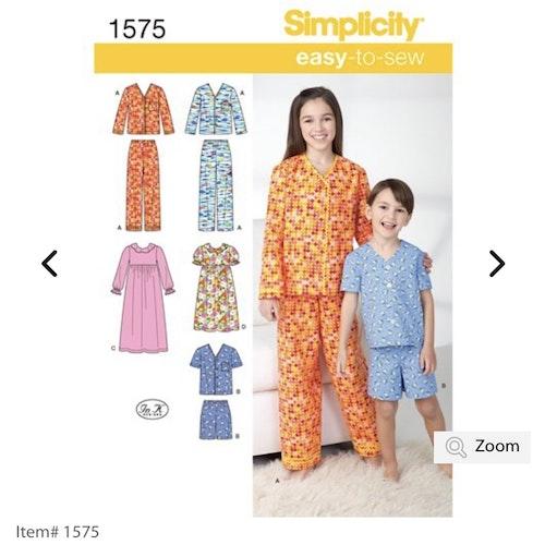 Simplicity 1575 HH Barn storlek 3-6 Flera plagg