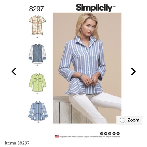 Simplicity 8297 R5 Dam Storlek 40-48