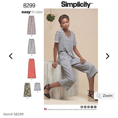 Simplicity 8299 R5 Dam Storlek 40-48 Flera plagg